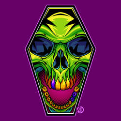 Coffin Skull by ArtisticDyslexia