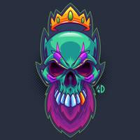 Bearded King Skull