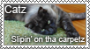 Cat stamp by kjthemighty