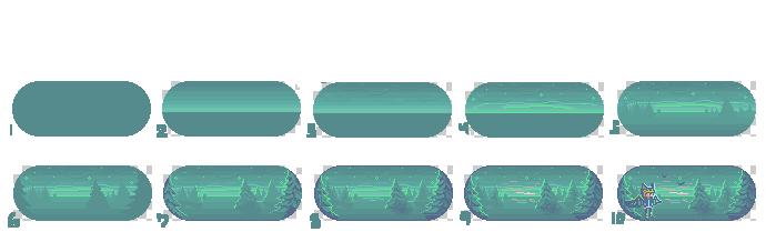 Pixel background - step by step by tea-hee