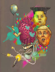 Kim Jong-Boom loves Donald Bomb by glaubersonic