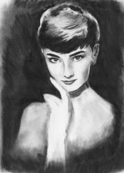 Audrey Hepburn by WinterCombatKnight