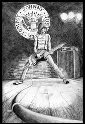 Johnny Ramone by WinterCombatKnight