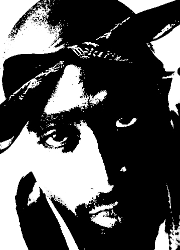 2pac stencil by dasigner on deviantart