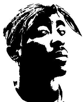 Tupac Shakur Stencil ... by DaSigner