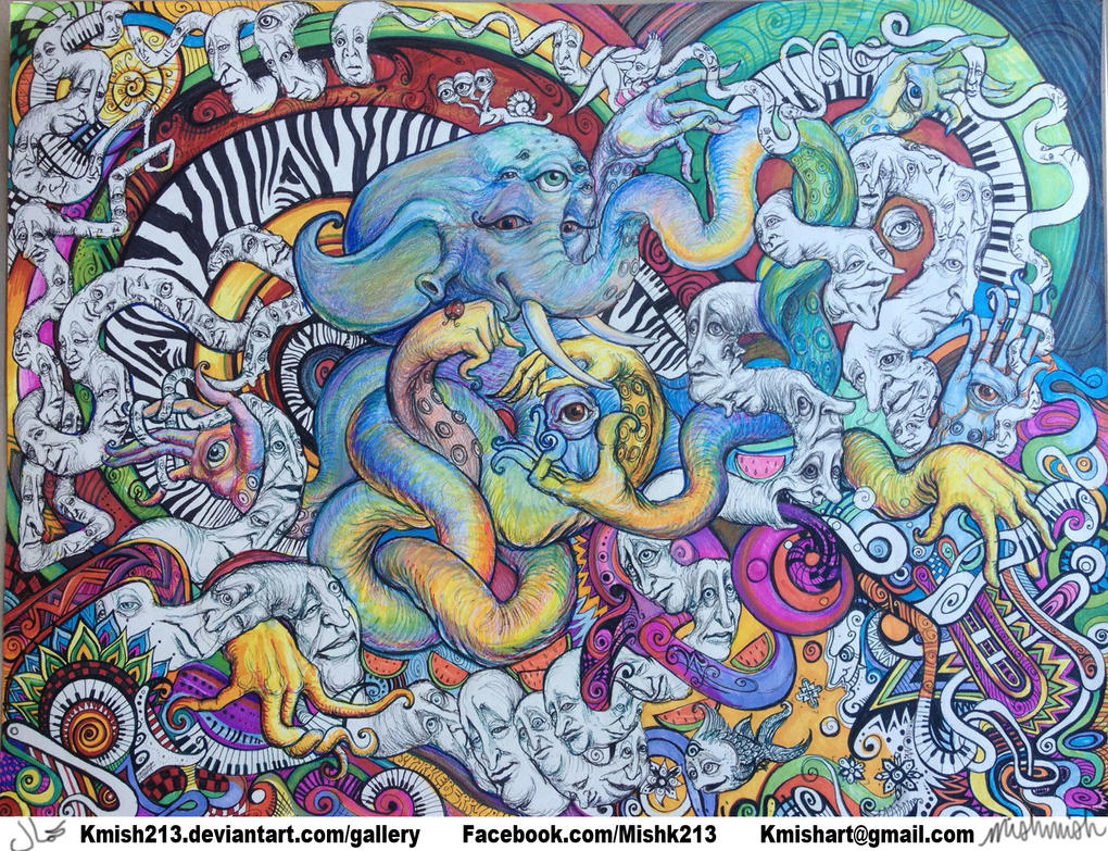 Psychedelic Elephantopus- Creature from Mish by kmish213