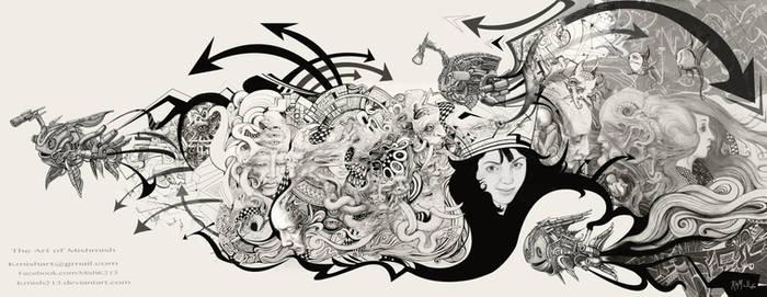 Pen, Ink, Graphite, Digital fusion