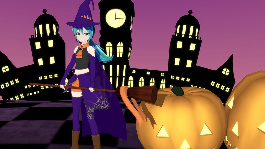 Hatsune Miku Halloween by 88-3