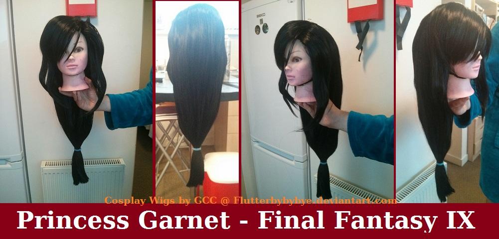 Princess Garnet Cosplay Wig Commission by Flutterbybybye