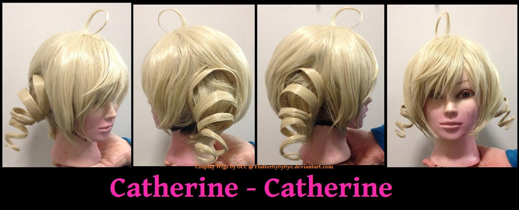 Catherine - Catherine Cosplay wig commission by Flutterbybybye