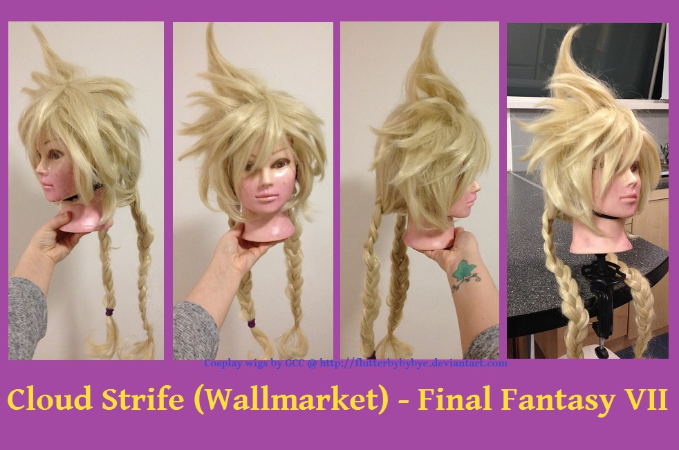 Wallmarket Cloud - Final Fantasy VII Cosplay wig by Flutterbybybye