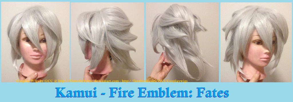 Corrin/Kamui - Fire Emblem: Fates wig commission by Flutterbybybye