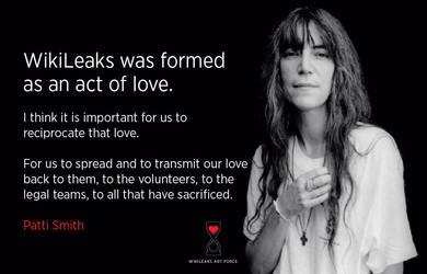 Patti Smith on WikiLeaks by lisa-im-laerm