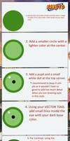 How to draw anime eyes Naruto style. by helrote