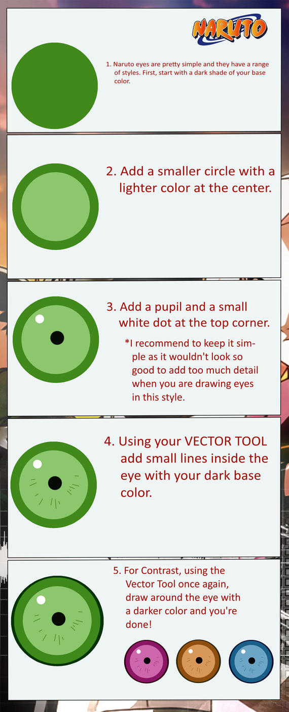 How To Draw Naruto Style Eyes