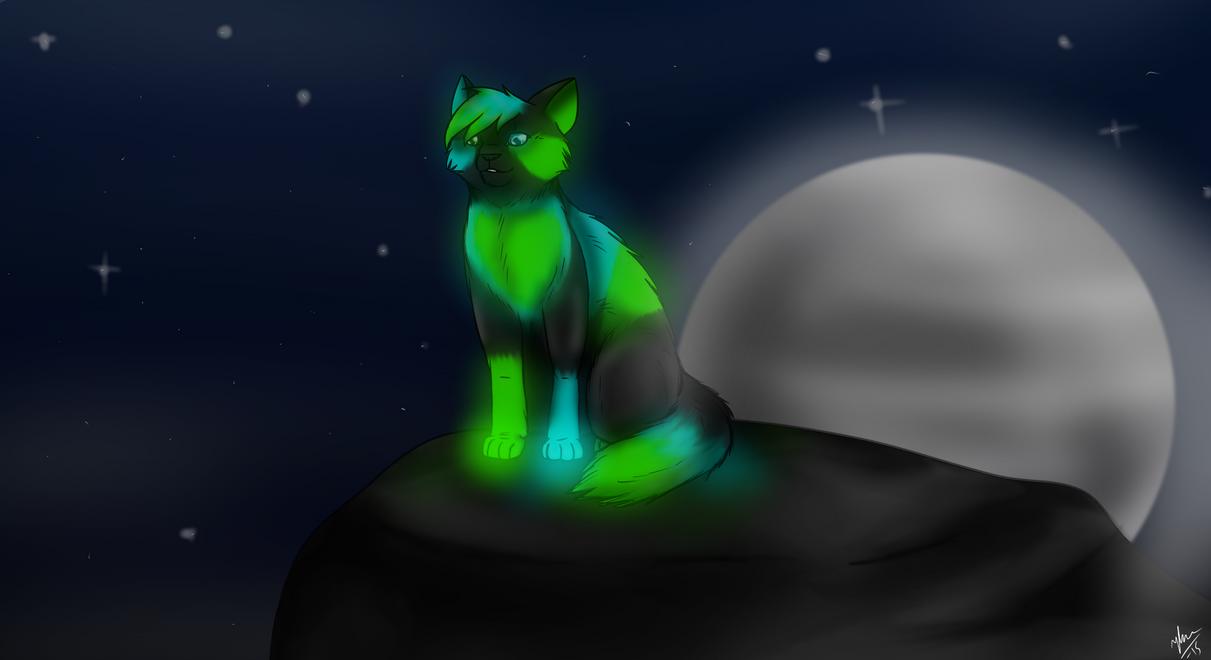 In the night glow by Blarien