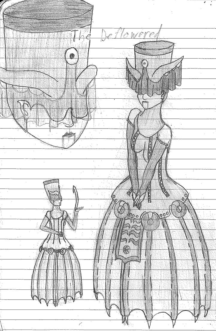 The Deflowered concept sketch 2013 by WallowBlacklake