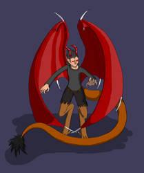 (Art Trade) Ivanov, Demon Form by WallowBlacklake