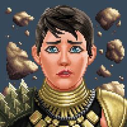 Tracey Pixel Portrait by Petrazilla