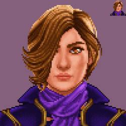 Taya Pixel Portrait by Petrazilla