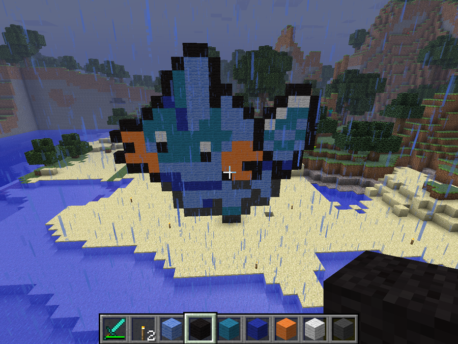 Small Mudkip sprite in Minecraft by looking-for-malice on ... | 900 x 676 png 973kB