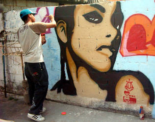 ALICIA KEYS GRAFFITI by imageerc