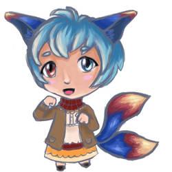 Sol the blue flame fox
