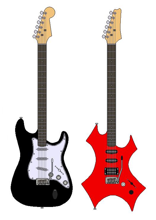 my guitars pixel ver. by autobot0d41r