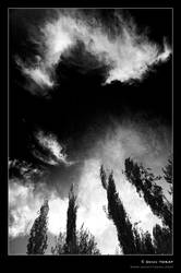 Black Sky and Clouds