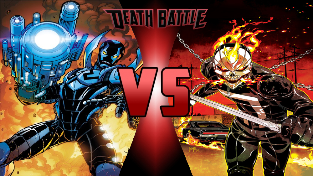 Blue beetle jaime vs ghost rider robbie by dynamo1212 - Blue ghost rider ...