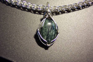 Stone with wire bezel