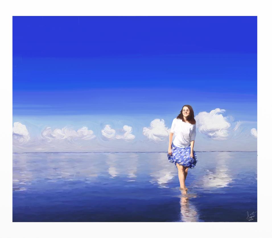 Anastasia and a sea by HappyEugene