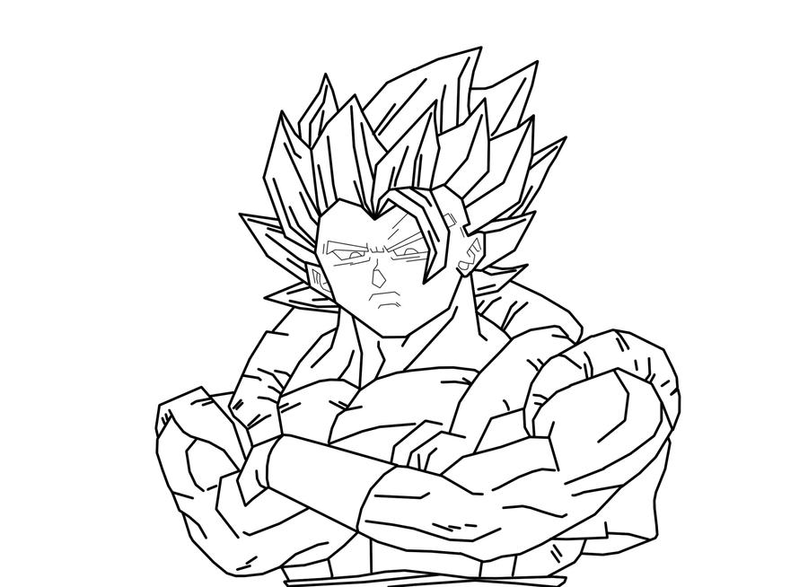 Super Saiyan Gogeta Lineart By SSJGOKU94 On DeviantArt