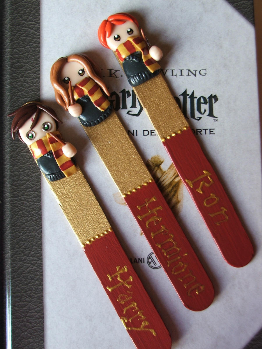 Bookmarks Harry Potter by Libellulina