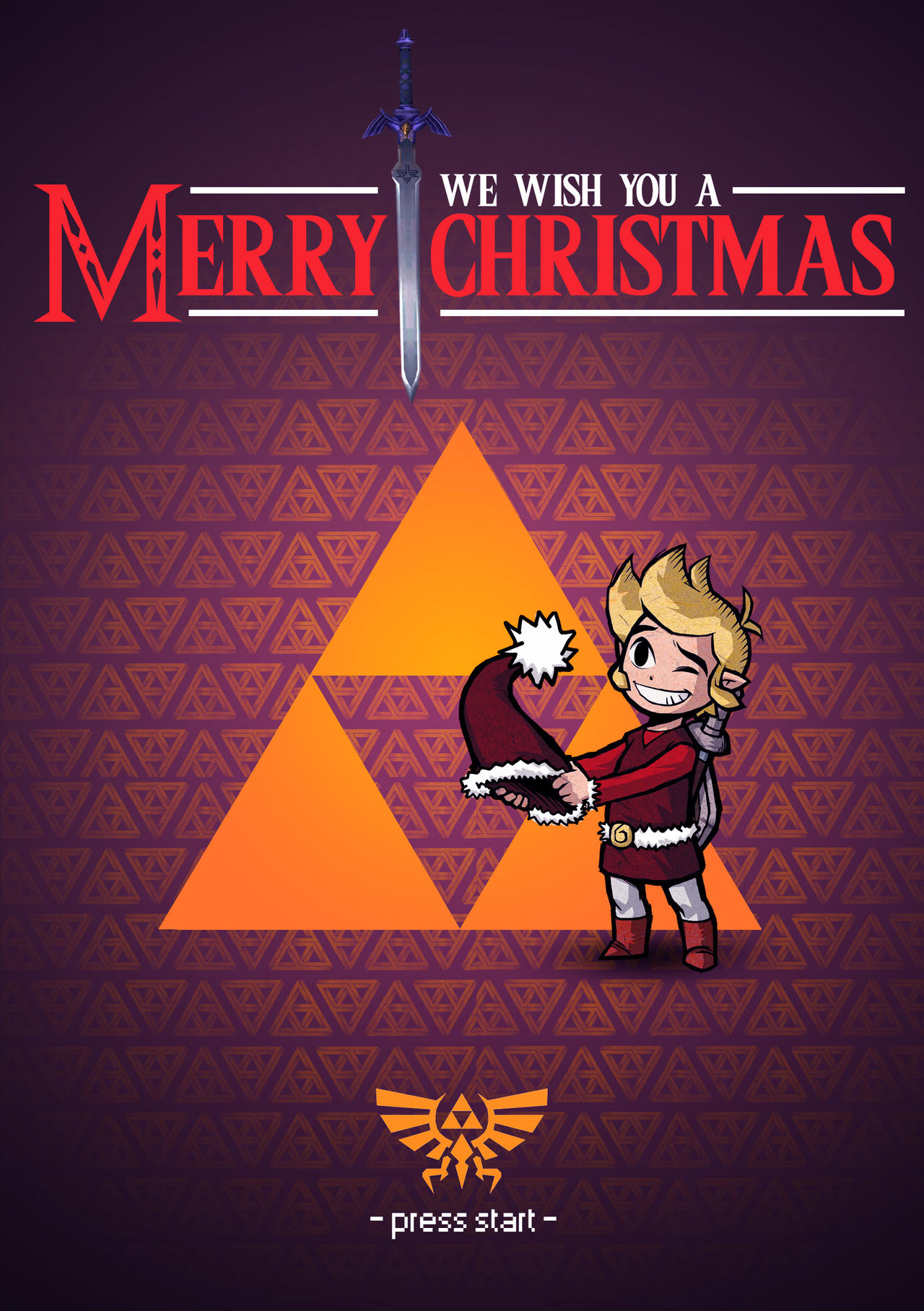 Zelda Christmas Card by Seiikya