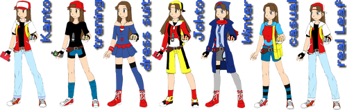 Leaf's outifits [Pokemon False Red]