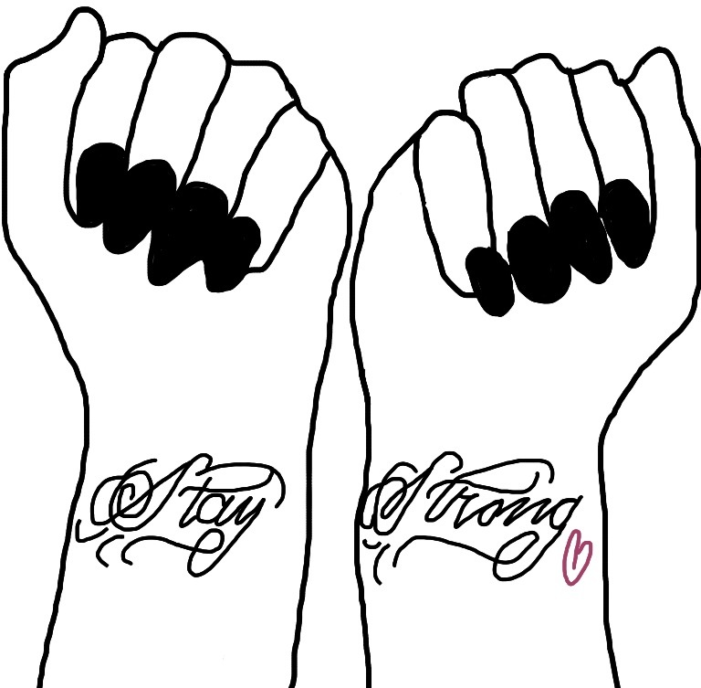 Demi Lovato Stay Strong Tattoos Drawing by fichibi5 on