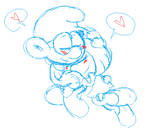 Smurfs:Brainy x Emotionette Rest by kiananuva12