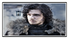 GoT:Jon Snow Stamp by kiananuva12