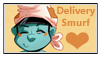 Smurfs:Delivery Smurf Stamp 1 by kiananuva12