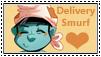 Smurfs:Delivery Smurf Stamp 1 by kiananuva12