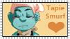 Smurfs:Tapie Smurf Stamp 1 by kiananuva12