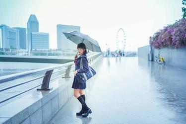 Seifuku Under Rain 01