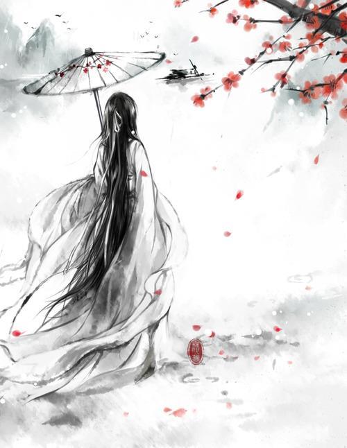 Flower Anime Girl. by SasukeXSariya