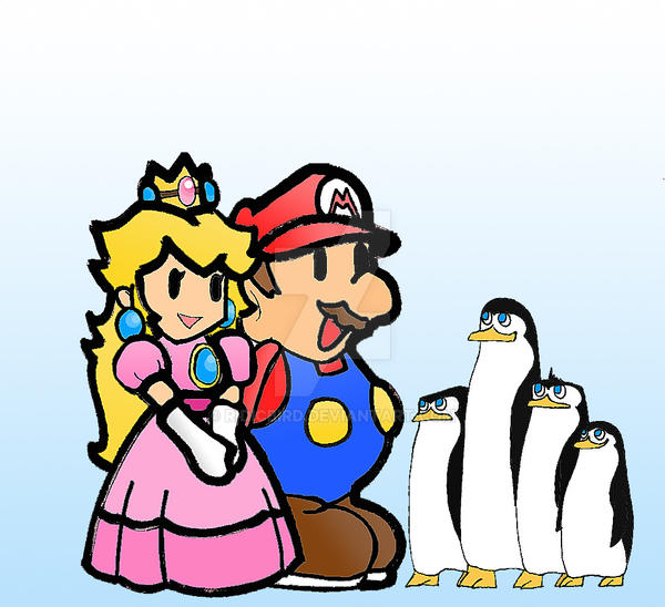 Mario and the Penguins by ExtremePenguin