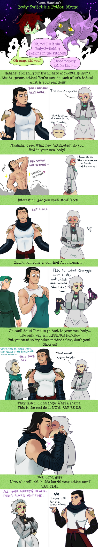 Meme Collab:Oc Body Switching Potion by ExtremePenguin