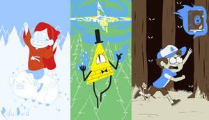 Colour Scheme Fanart: Gravity Falls by RidicBird