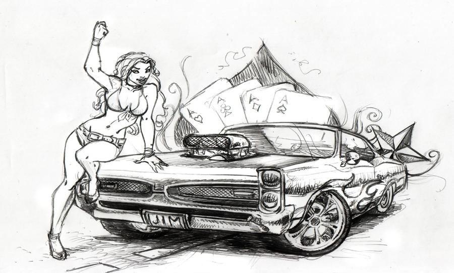 Muscle Car Drawings In Pencil Side View Gallery
