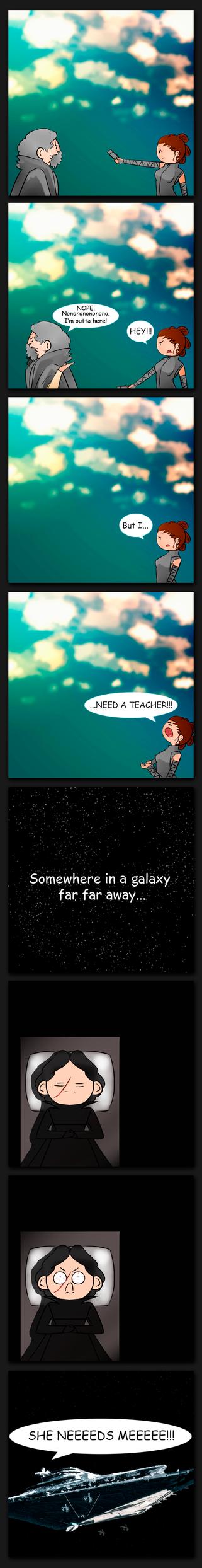 She needs a teacher by StarrdustCrusader