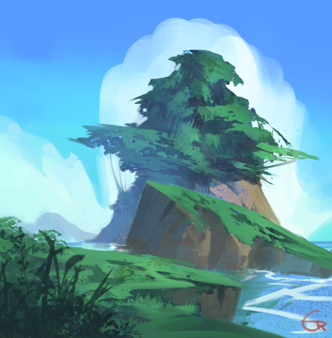 Island sketch by RobertoGatto